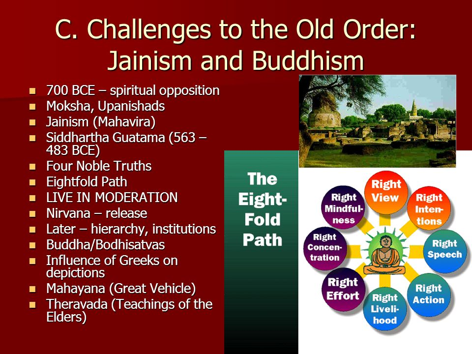 C. Challenges to the Old Order: Jainism and Buddhism
