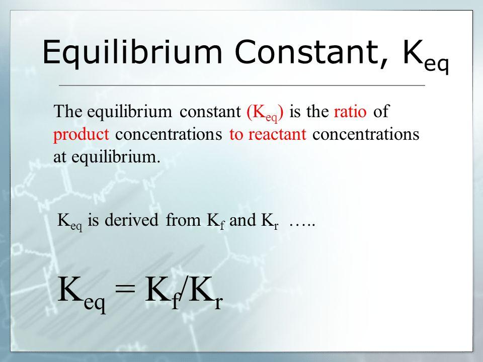 Equilibrium Constant, Keq
