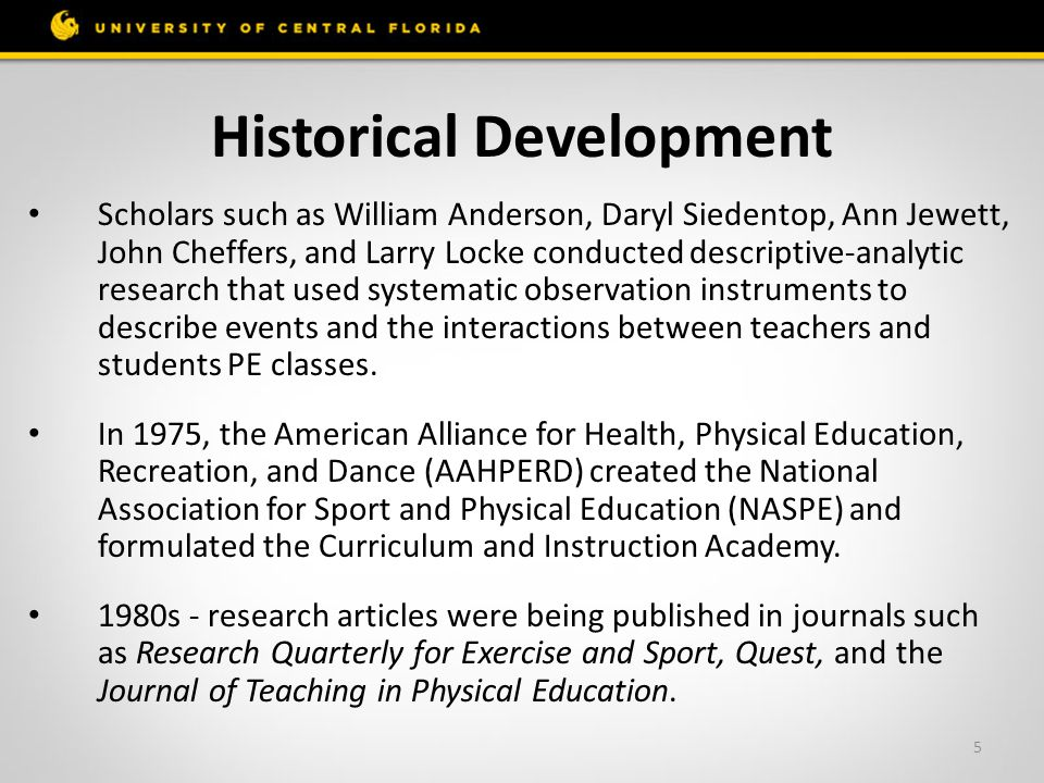 historical development of physical education essay This engaging and informative text will hold the attention of students and scholars as they take a journey through time to understand the role that history and philosophy have played in shaping the course of sport and physical education in western and selected non-western civilizations.