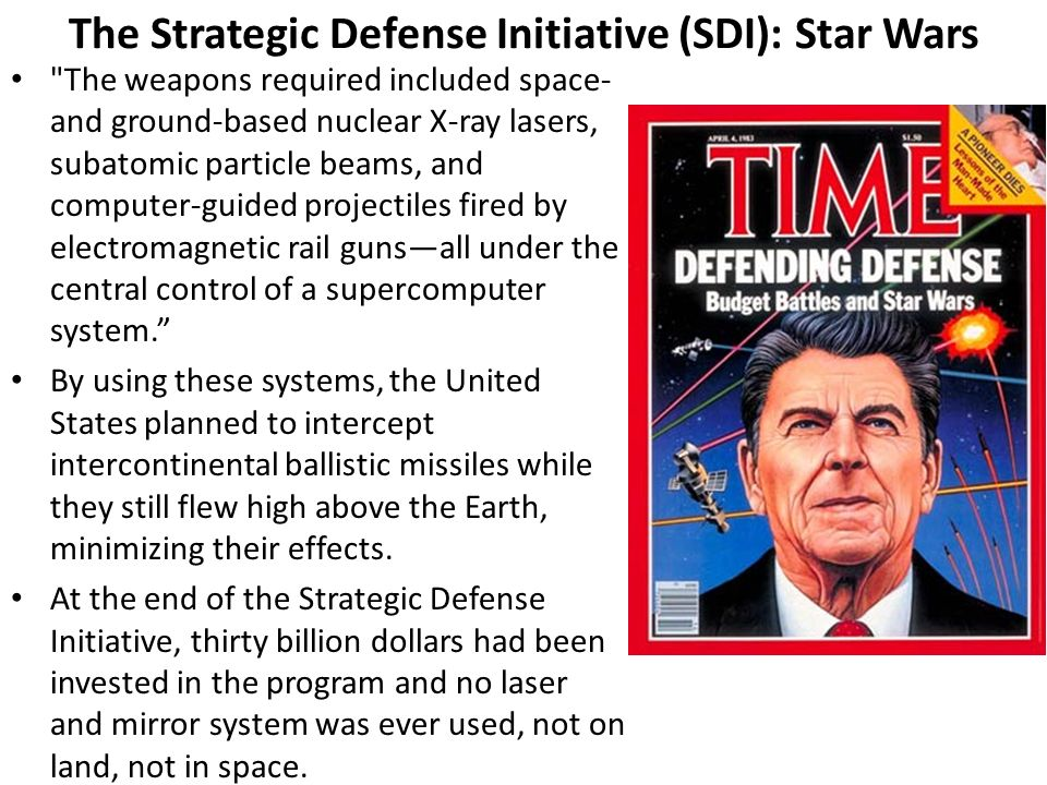 The Strategic Defense Initiative (SDI): Star Wars