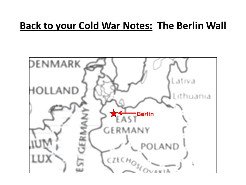 Back to your Cold War Notes: The Berlin Wall