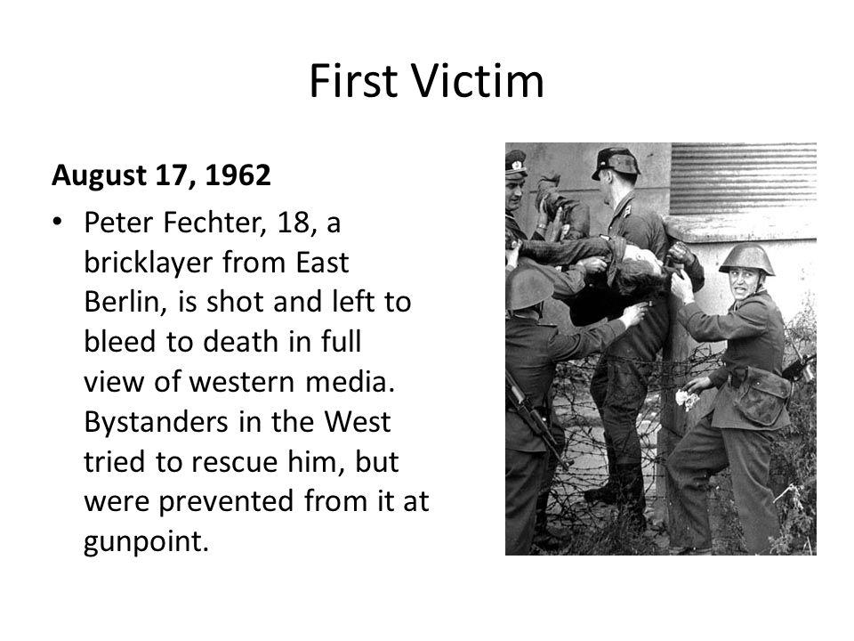 First Victim August 17, 1962.