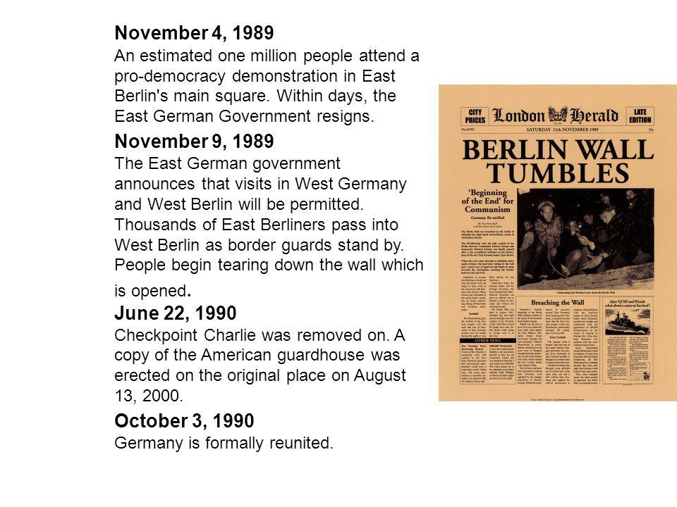 November 4, 1989 November 9, 1989 June 22, 1990 October 3, 1990