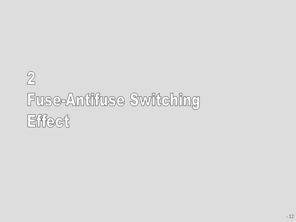 Fuse-Antifuse Switching Effect