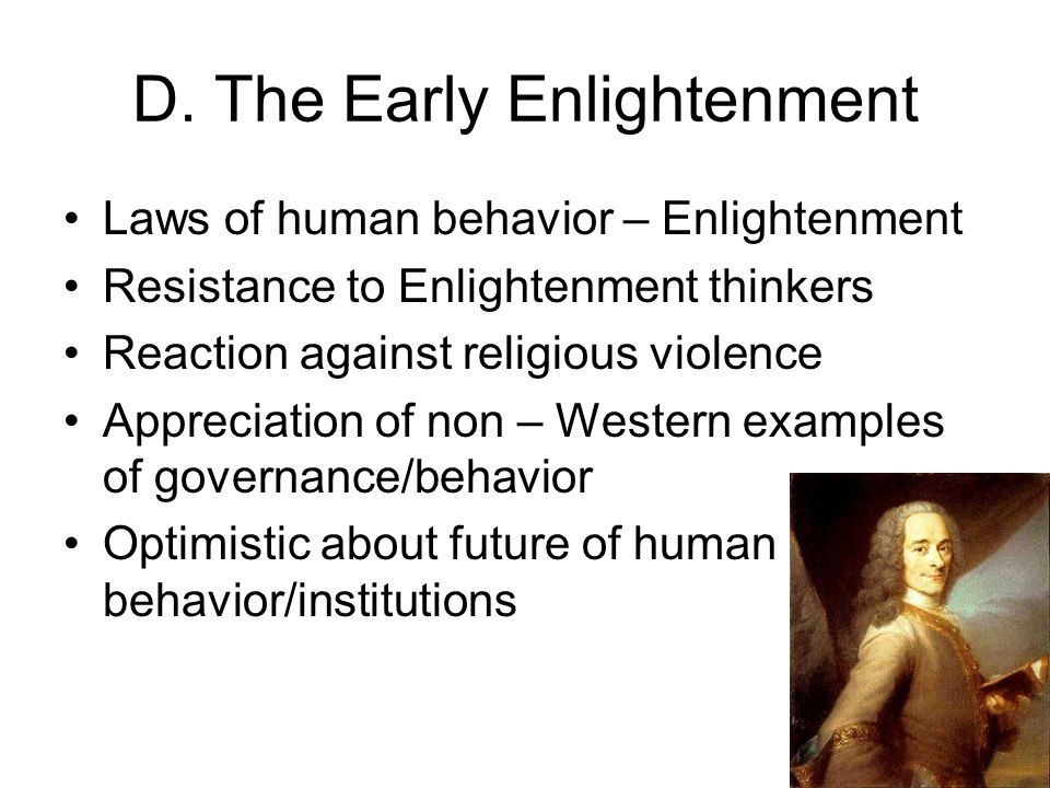 D. The Early Enlightenment
