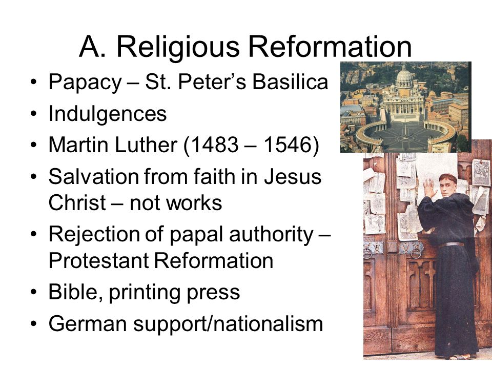 A. Religious Reformation
