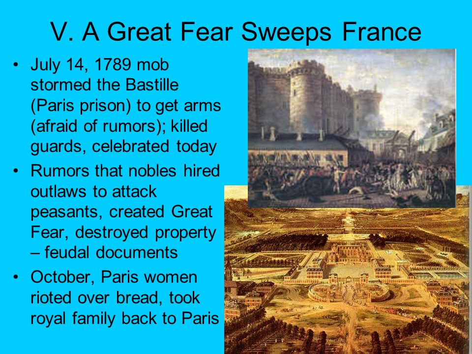 V. A Great Fear Sweeps France