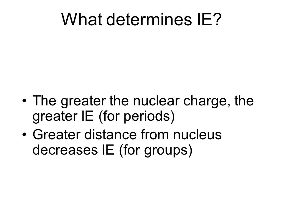 What determines IE.