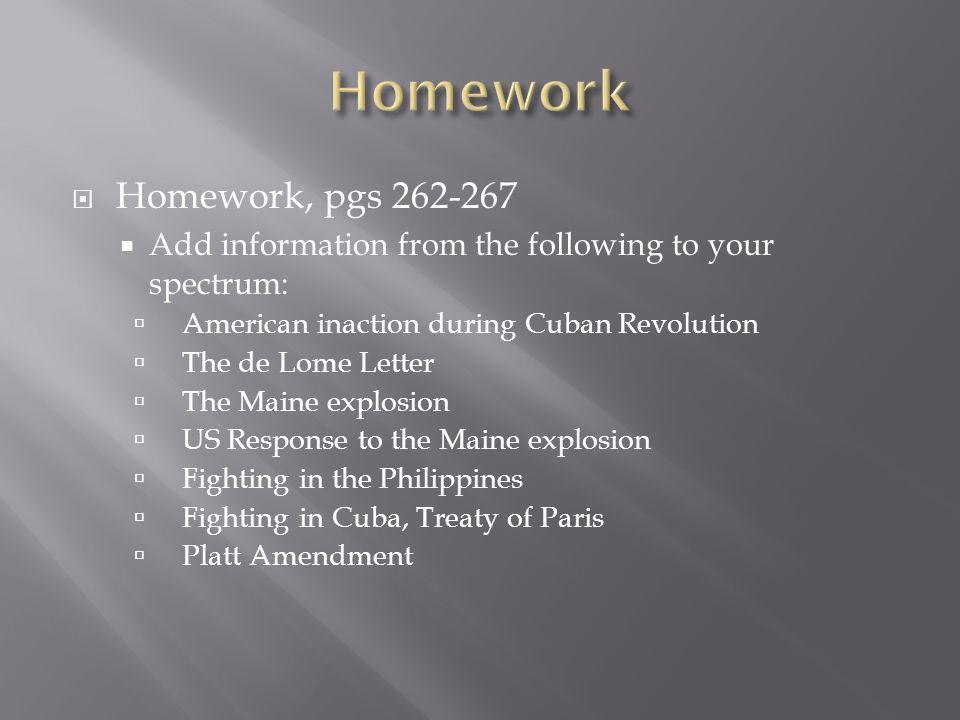 Homework Homework, pgs 262-267