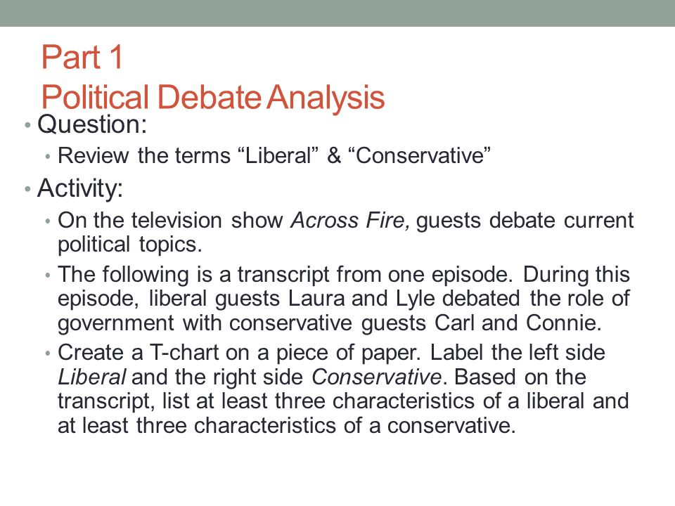 Part 1 Political Debate Analysis