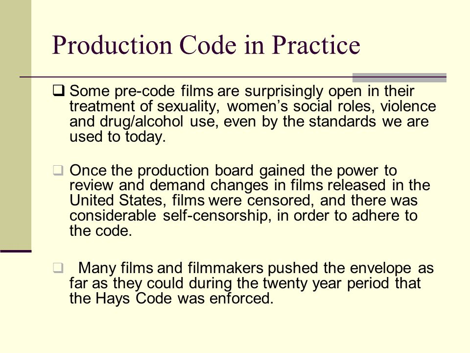 Production Code in Practice