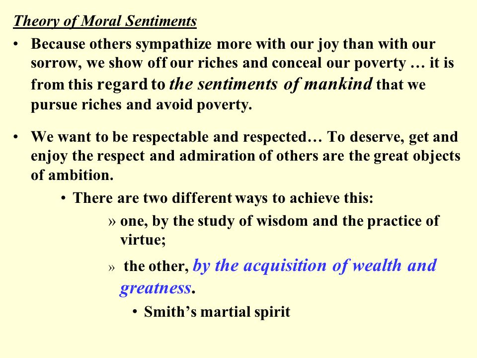 Adam Smith's concept of sympathy