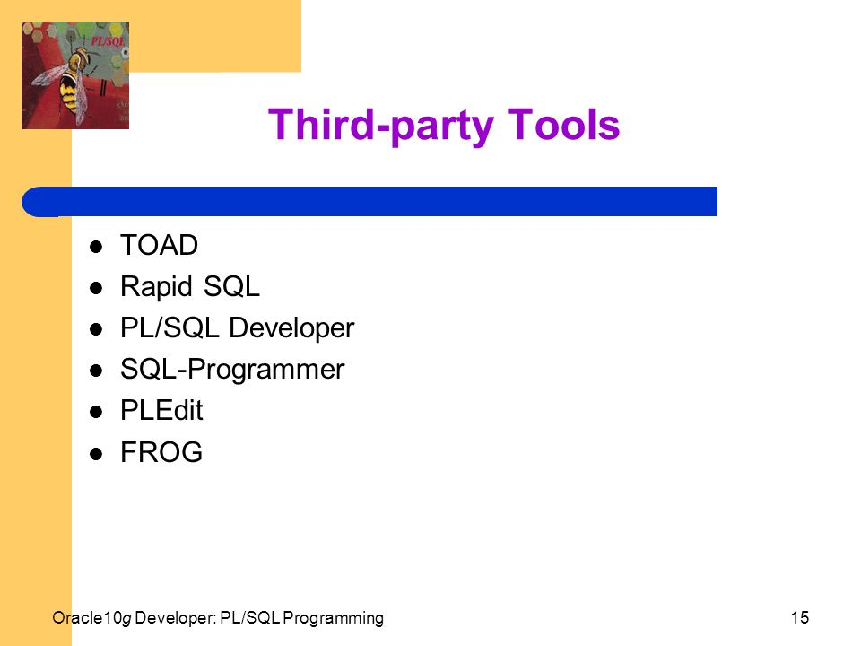 third party tools toad rapid sql plsql developer sql programmer - Sql Programmer