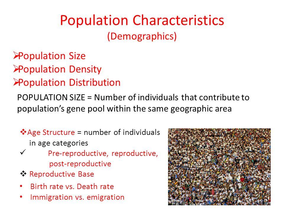 Population Characteristics (Demographics)