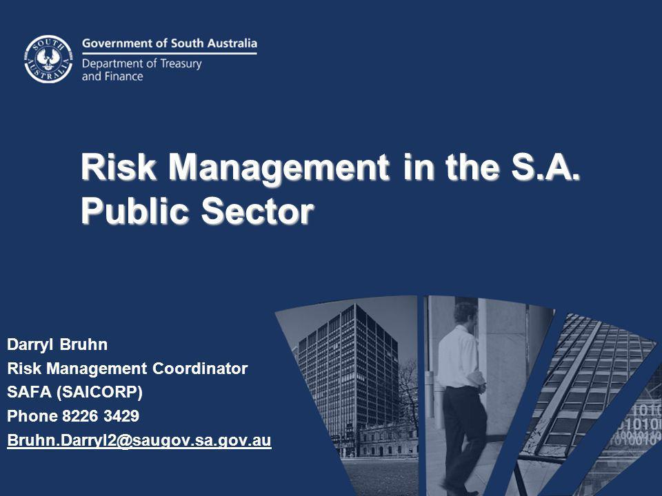 Risk Management in the S.A. Public Sector