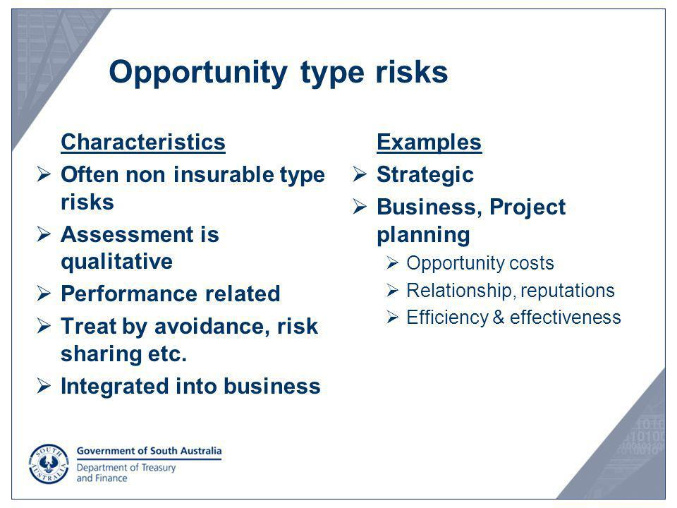 Opportunity type risks