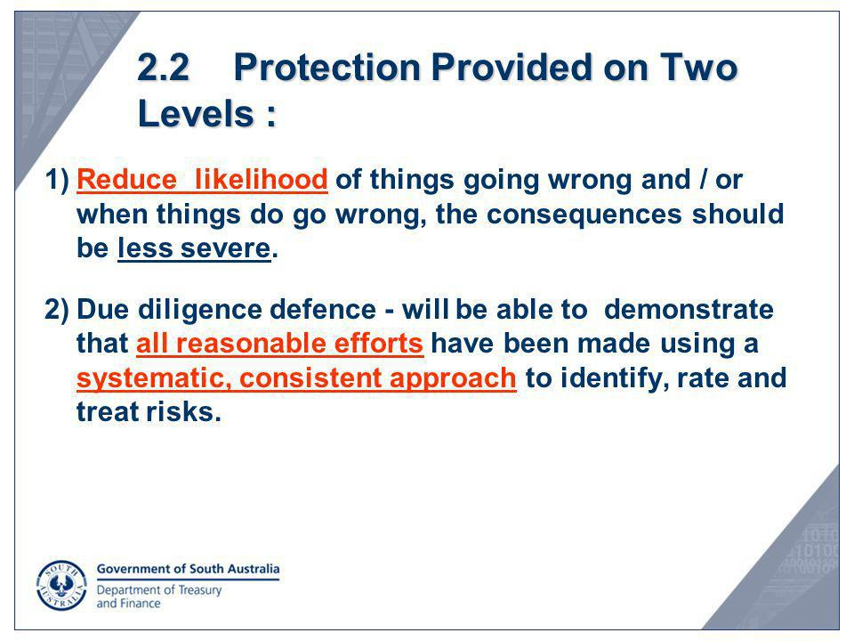 2.2 Protection Provided on Two Levels :