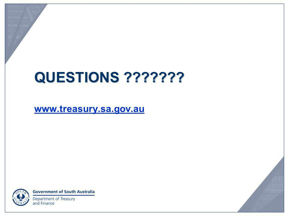 QUESTIONS www.treasury.sa.gov.au