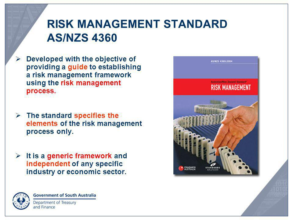 RISK MANAGEMENT STANDARD AS/NZS 4360