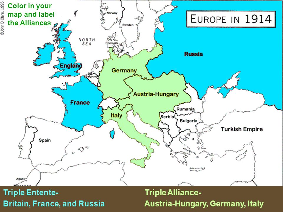 Triple Entente- Triple Alliance-