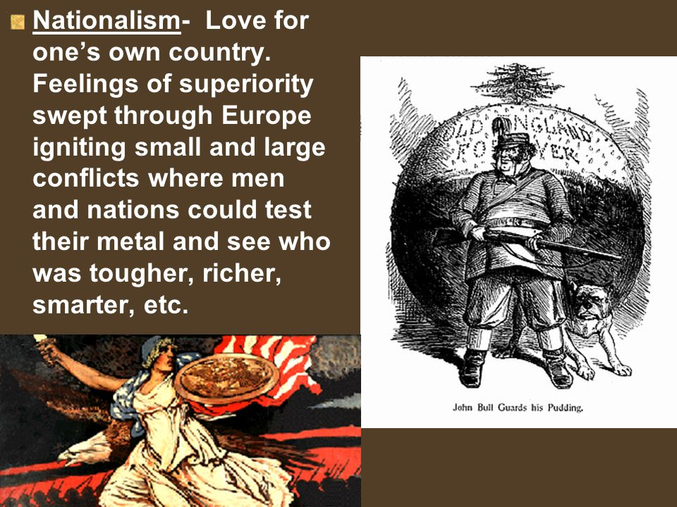 Nationalism- Love for one's own country