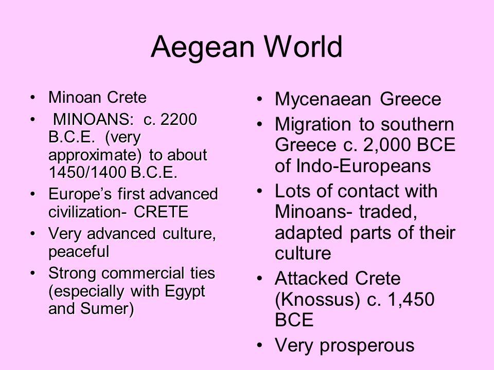 Aegean World Mycenaean Greece