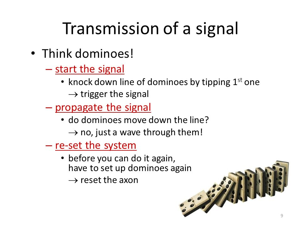 Transmission of a signal