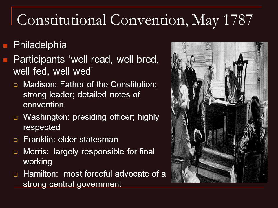 Constitutional Convention, May 1787