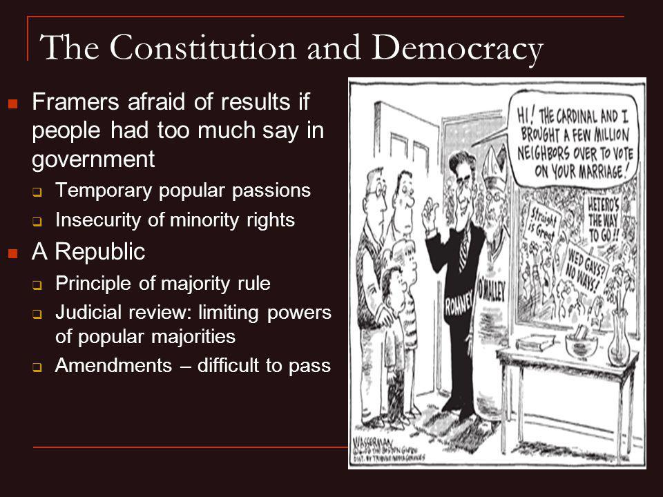 The Constitution and Democracy
