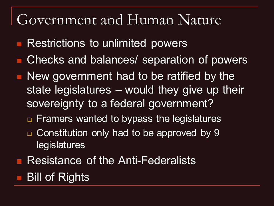 Government and Human Nature