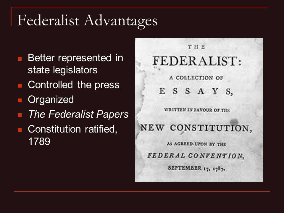 Federalist Advantages