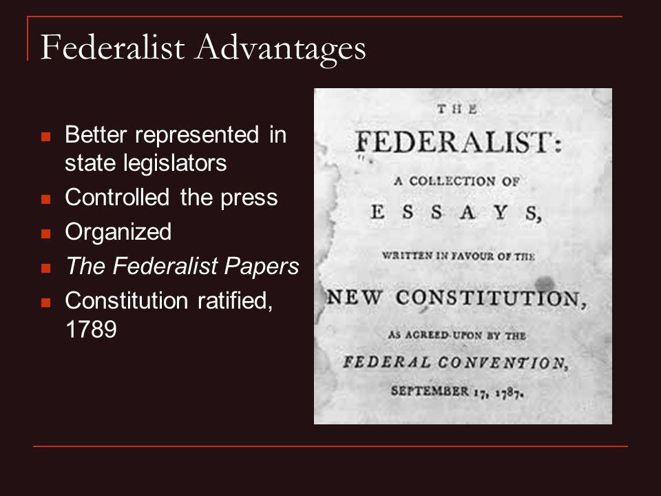 Federalist Advantages