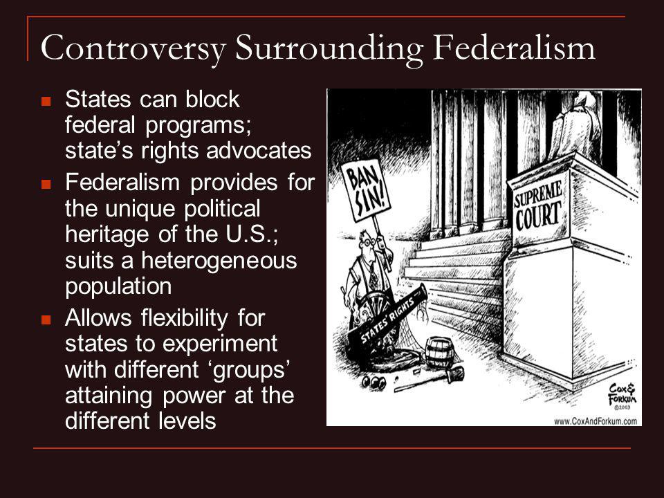 Controversy Surrounding Federalism