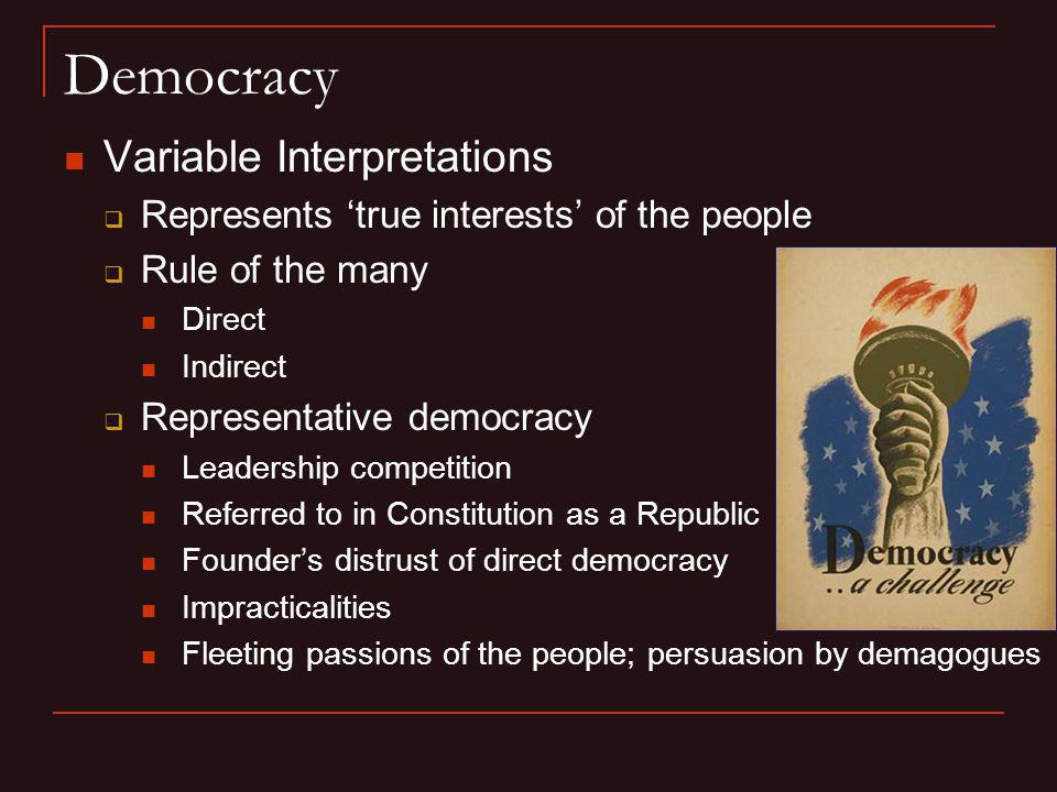 Democracy Variable Interpretations