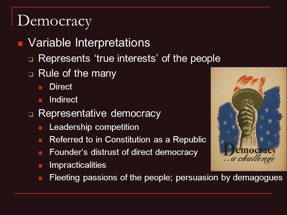 Democracy Variable Interpretations