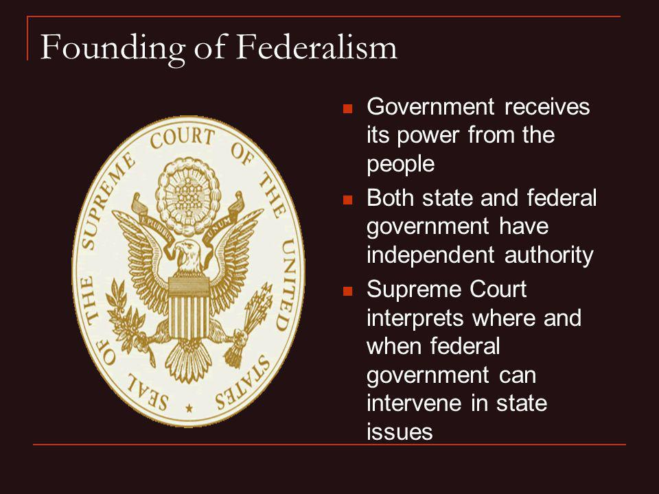 Founding of Federalism