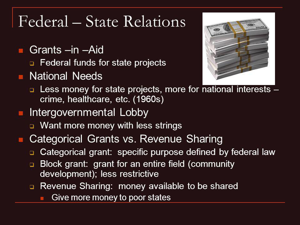 Federal – State Relations