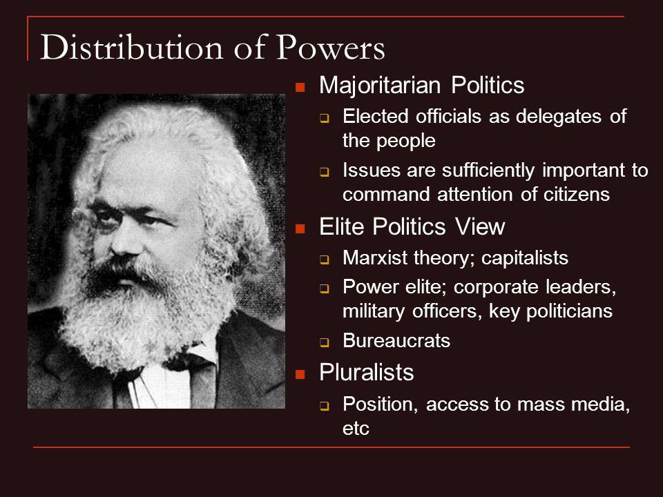 Distribution of Powers