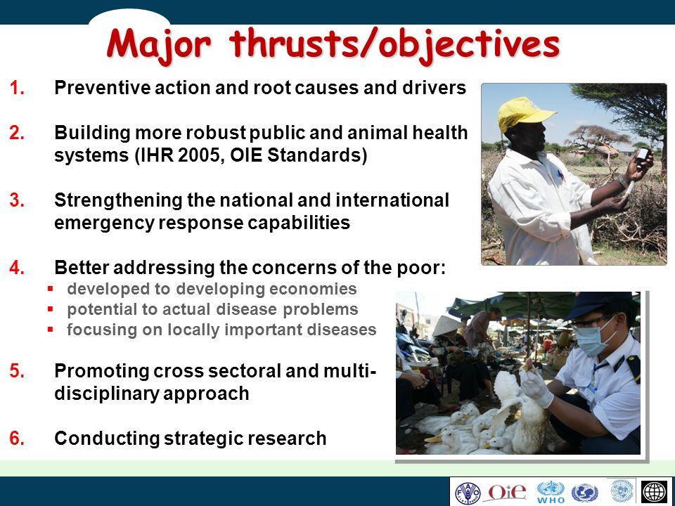 Major thrusts/objectives