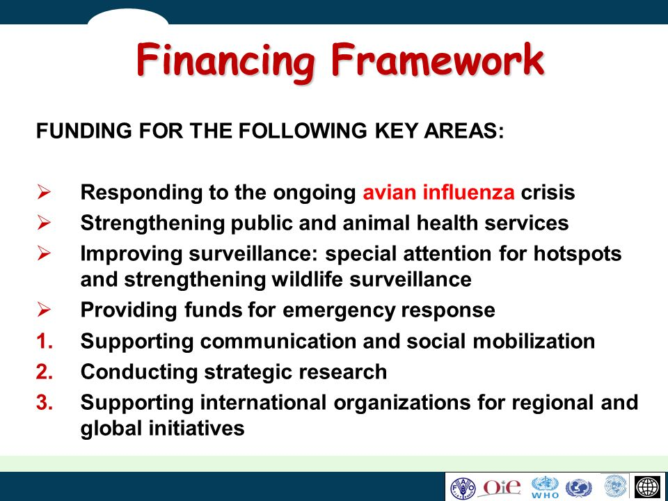Financing Framework FUNDING FOR THE FOLLOWING KEY AREAS: