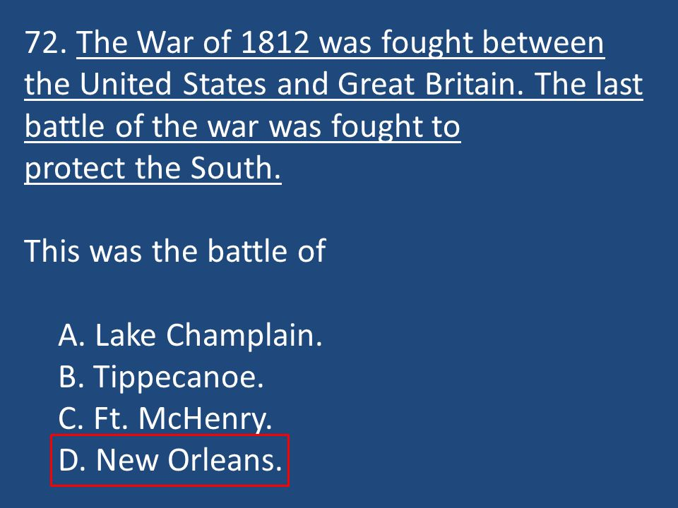 a review of the war of 1812 between united states and great britain Why fight another war with great britain why fight it in 1812 these are, and were, important questions for the leaders of the nascent american republic  the united states declared this war .