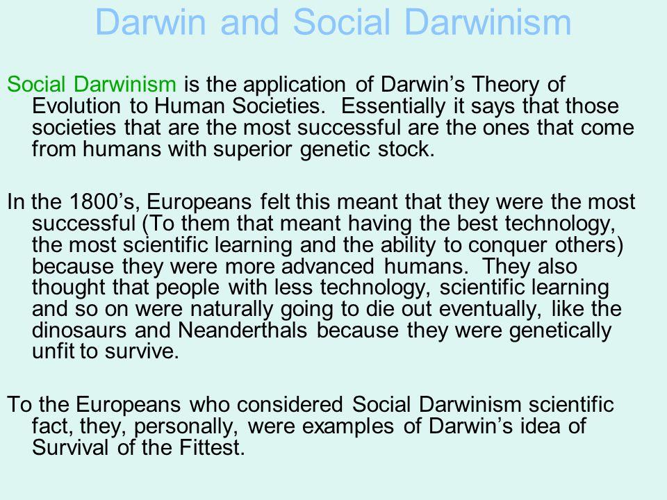 Darwin and Social Darwinism