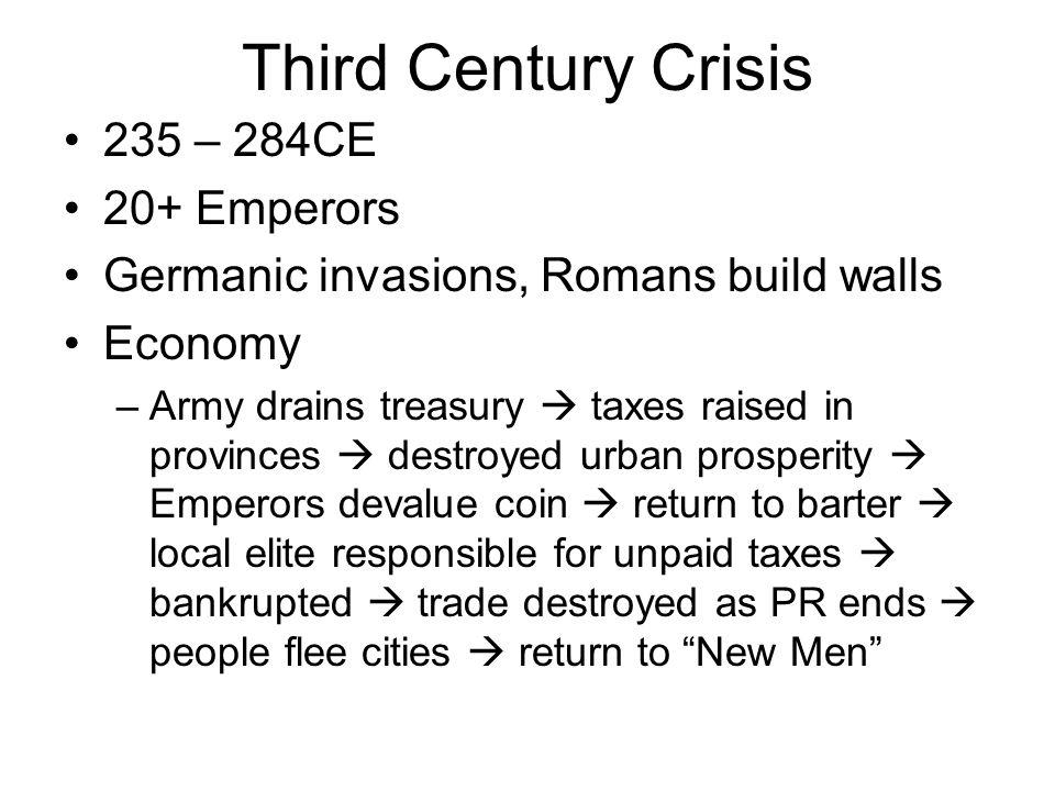 Third Century Crisis 235 – 284CE 20+ Emperors