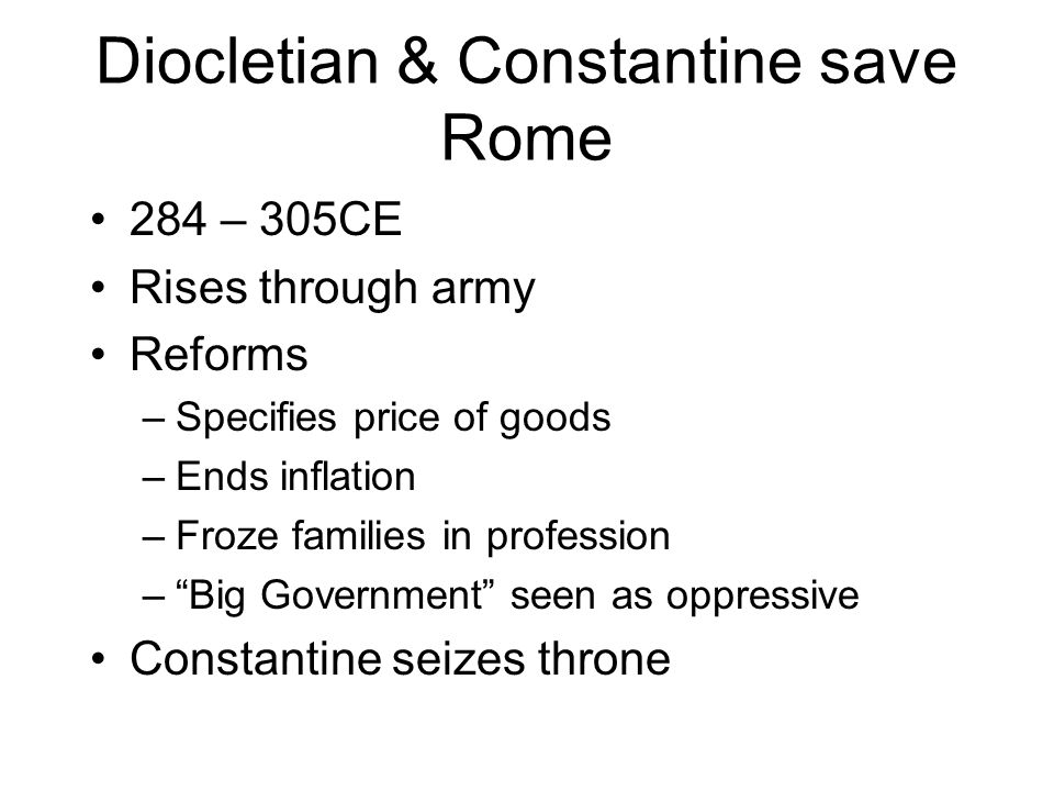 Diocletian & Constantine save Rome