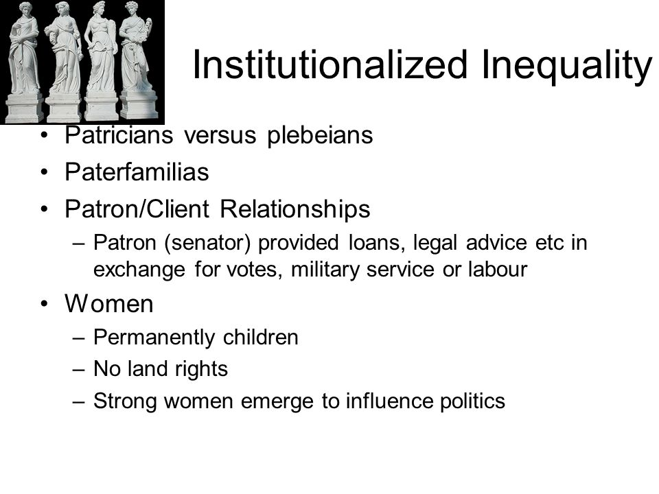 Institutionalized Inequality