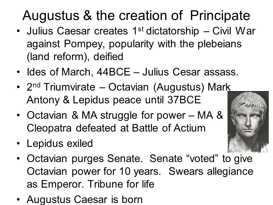 Augustus & the creation of Principate