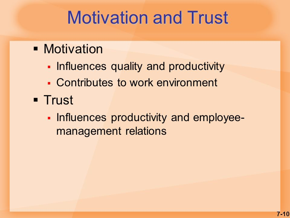 motivation in management productivity of employees Highly motivated employees create a productive workplace if your workplace  morale is in the dumps, boost productivity by providing incentives, recognizing.