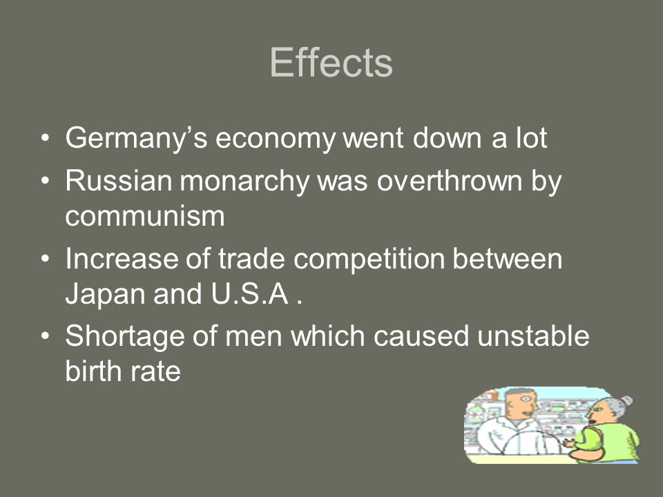Effects Germany's economy went down a lot
