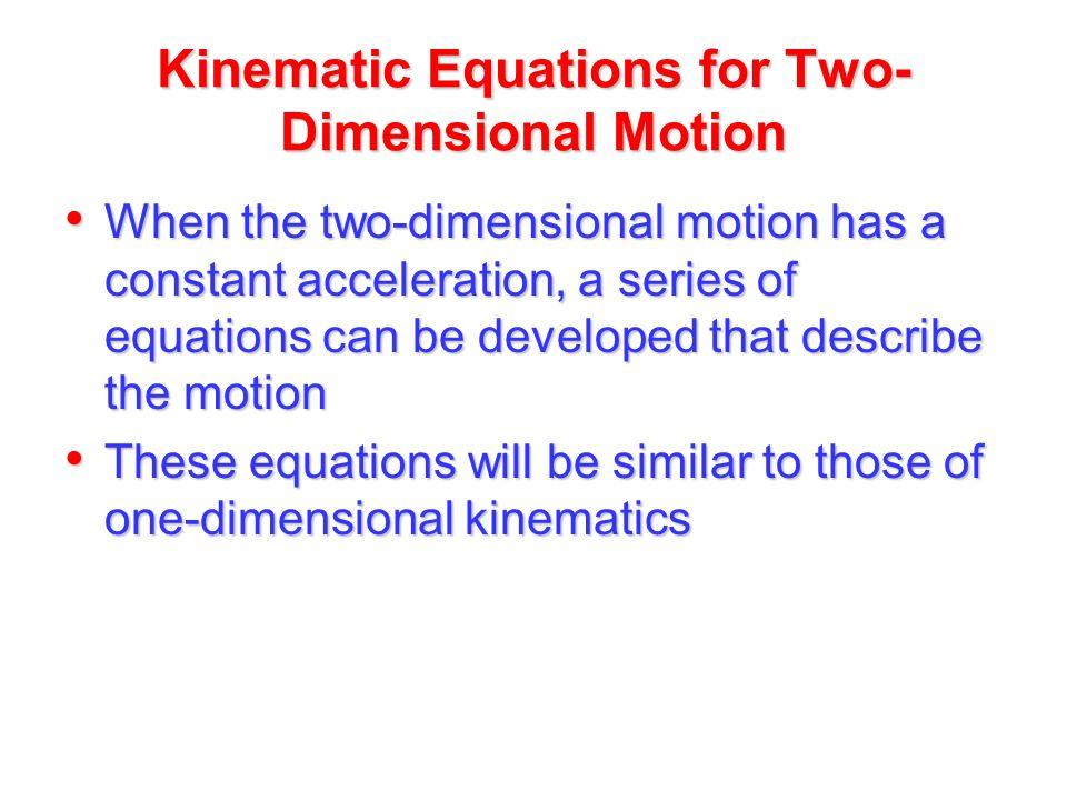 chapter 4  u2013 2d and 3d motion definitions projectile motion