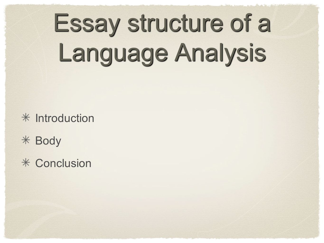 using language to persuade essay structure Understanding how to structure and write a language analysis is a useful skill that is to prepare yourself to write a language analysis essay for you to fully immerse yourself in the source and uncover all of the moments in the source in which the author is using language to persuade.